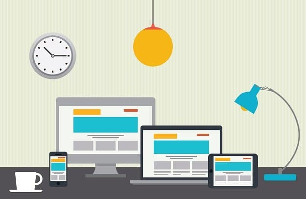 different devices to demonstrate responsive design